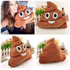 Soft Emoji Poo Shaped Stuffed Pillow Cushion Smiley Face Toy Sofa Decor WHAF24