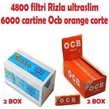 4800 FILTRI RIZLA ULTRASLIM + 6000 CARTINE OCB ORANGE CORTE