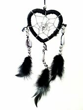 Heart-shaped Dream Catcher with Feathers car or wall hanging ornament -MHBL