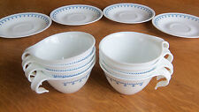 Corelle Snowflake Blue Garland/Hook-Handle Stackable-4 Cups OR 4 Saucers OR 4 Cu