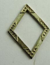 Antique Sterling Silver Marcasite Diamond Shaped Trim Design Piece  #EST598
