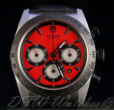 Tudor Fastrider Chrono 42010N RED Black Ceramic Bezel Boxes Papers 42mm