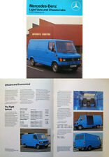 Mercedes Benz Light Vans 207D 307D 210 & 310 1982-83 original UK Sales Brochure