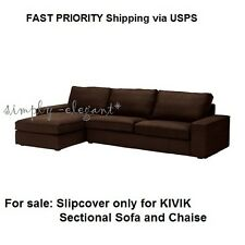 IKEA KIVIK Cover for KIVIK Sectional Sofa & Chaise 4-seat Tullinge Dark Brown