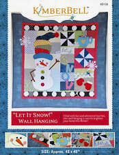 LET IT SNOW! WINTER TIME WALL HANGING QUILTING PATTERN, From Kimberbell NEW
