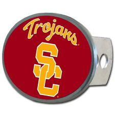 USC Trojans Metal Oval Hitch Cover Cap NCAA Licensed Football Truck Southern Cal