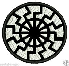 BLACK SUN EMBROIDERED PATCH WHITE COLOR OCCULTISM MAGICK Metal Negro