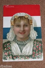 Vintage Postcard: Holland, Young Girl, Tuck's, Artist Edith Salmon
