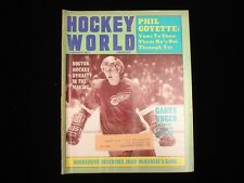 January 1971 Hockey World Magazine - Garry Unger Redwings Cover