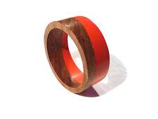 Bijou bracelet tendance jonc bois rouge bangle
