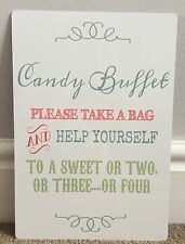 A4 Candy Buffet Sweet Cart Metal Table Sign Wedding Party
