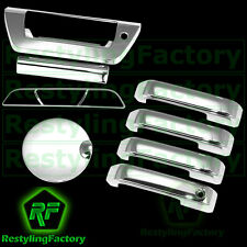 2015 FORD F150 Chrome 4 Door handle no Smart+Tailgate W/LAMP+Gas+3rd Brake Cover