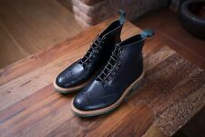 Tricker's Navy Blue Aniline Stow Boots Made In England UK 9.5 RRP £390 BNIB