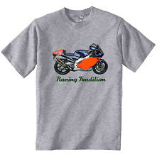 APRILIA RS 250 1999 INSPIRED - NEW COTTON GREY TSHIRT - ALL SIZES IN STOCK