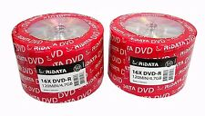 100 RITEK RIDATA Blank DVD-R DVDR Logo Branded 16X 4.7GB Media Disc