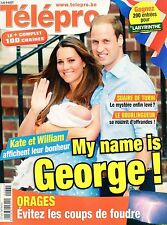 french magazine Télépro N°3100 kate middleton william et george 2013