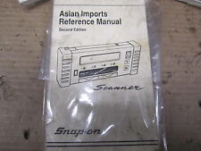 Snap On SCANNER USER MANUAL asian IMPORTS 2ND EDITION