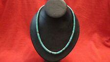 Native American Graduated Cylinder Beaded Turquoise Necklace
