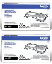 GENUINE OEM BROTHER TN450 (TN-450) BLACK TONER CARTRIDGE (2-PACK) *BRAND NEW*