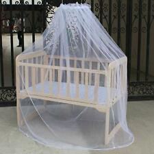 Baby White Mosquito Net Netting Canopy for Toddler Nursery Crib Bed Cot Canopy T