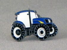 Blue TRACTOR (Ford / New Holland Style) Quality Enamel Pin Badge Lapel Badge