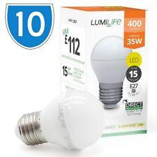 10x 5w = 30w de alta potencia de E27 LED Bombilla de Edison tornillo de bola de golf Blanco fría luz del día