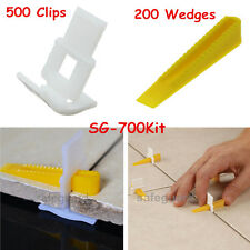 500 Clips + 200 Wedges 700 Tile Leveler Spacers Lippage Tile Leveling System