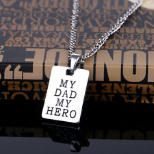 2016 New My Dad My Hero Charm Fashion Pendant Necklace Family Father's Day Gift