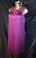 Vintage new LORRAINE chemise de nuit violet doux soyeux nylon dentelle taille s