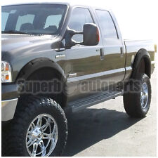 99-07 Ford F250/F350 Super Duty 4PC Black Euro Sporty Pocket Rivet Fender Flares