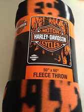 Harley Davidson Road Warrior fleece blanket  throw NEW