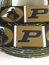 "Purdue Boilermakers 7/8"" Grosgrain Ribbon - 5 Yards, College,(USA Seller!)"