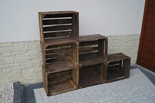 Set 6 pcs Amazing Wooden apple crates boxes box storage - 50x40x30 cm VINTAGE