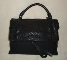 ARMANI EXCHANGE WOMENS BLACK MIXED MEDIA SHOULDER BAG HANDBAG G5BA941
