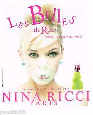 PUBLICITE ADVERTISING 065  1996  NINA RICCI  eau de toilette LES BELLES