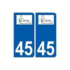 45  Cepoy logo ville autocollant plaque stickers droits