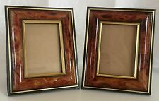 "Frame Table Desk Kick Faux Wood Like Grain 5""x4"" (opening 3""x2"") Lot of 2"