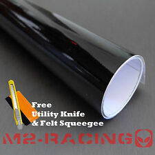 "*60""x72"" GLOSS BLACK GLOSSY Vinyl Wrap Sticker Decal Sheet w/ Bubble Air Release"