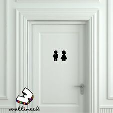Boy And GiToilet Door Sign Sticker - Door Sticker, Door Decal Bathroom Door Sign