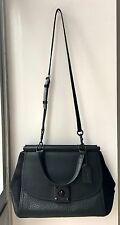 NWT Coach DRIFTER CARRYALL Black Mixed Leathers Top Handle Shoulder Bag $595