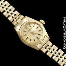 ROLEX Ladies Oyster Perpetual Champagne Dial Ref. 6719 - 14K Gold - Warranty