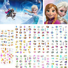 220 Assorted FROZEN ELSA ANNA OLAF & SNOW WHITE DECALS WATER NAIL ART STICKERS
