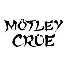"MOTLEY CRUE   music group sticker decal  3.5"" x *7.5""  available in many colors"