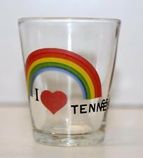 Shot Glass I LOVE TENNESSEE ( heart & rainbow )
