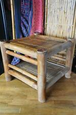 Old Chinese Bamboo Handmade Table…  can be clapped for storage or transport...