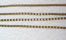 VINTAGE VERY UNUSUAL 1940'S WOVEN BRASS CHAIN 5 FEET