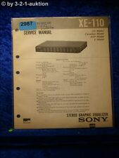 Sony Service Manual XE 110 Graphic Equalizer (#2987)