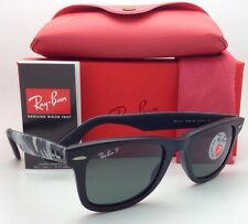 New RAY-BAN Polarized Sunglasses RB 2140 6066/58 Black-Camo Frame w/Green Lenses