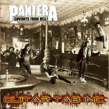 Pantera Guitar & Bass Tab COWBOYS FROM HELL Lessons on Disc