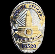 Obsolete collector LAPD police badge, Los Angeles Police Officer Badge Hallmark
